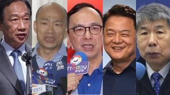 韓國瑜郭台銘朱立倫等5人 角逐國民黨總統初選