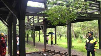 台中生態園區木棧道突坍塌…8人摔落 急送醫