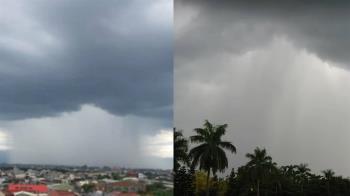 北北基16縣市發布大雨特報!嘉義市現「雨瀑」