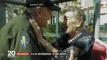 二戰烽火戀!美國老兵相隔75年重逢法籍女友