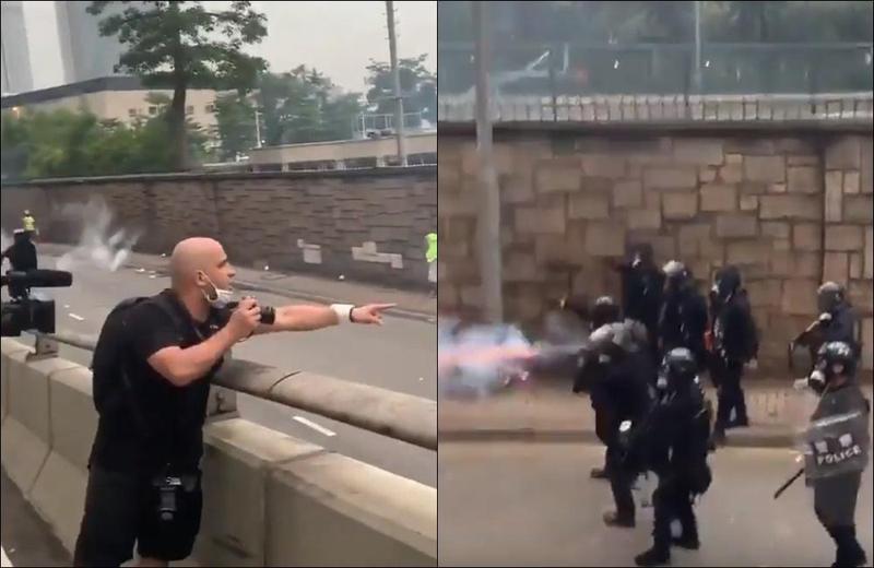 港警開槍清場!法記者怒吼:這裡是香港