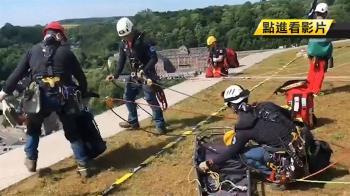 爬上75公尺高!台灣繩索救援 勇奪世界第一