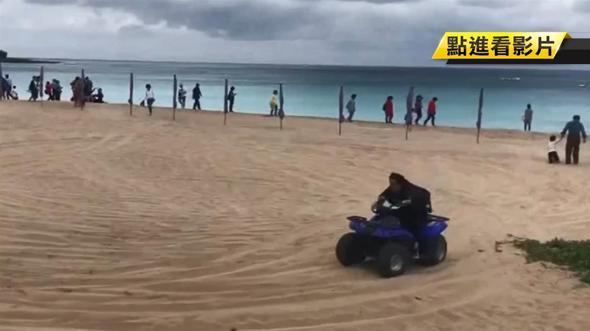 逐鹿墾丁?沙灘車飆沙追鹿 墾管處遭批不管