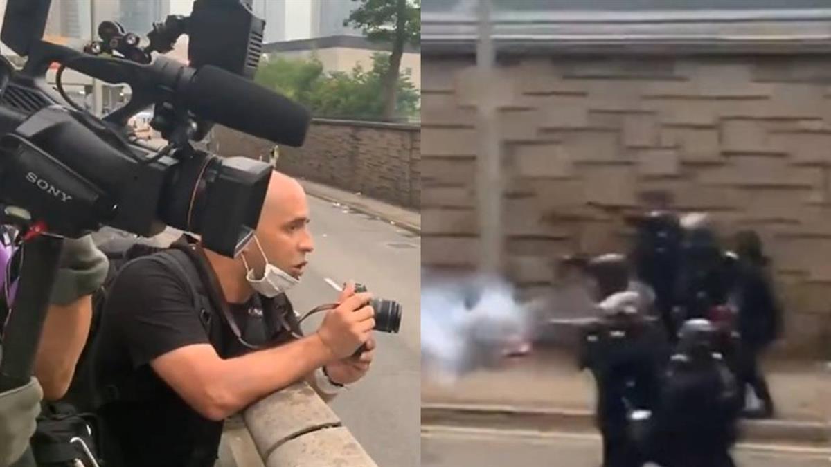 港警朝記者開槍 外媒喝阻無用 怒嗆:習近平愛你
