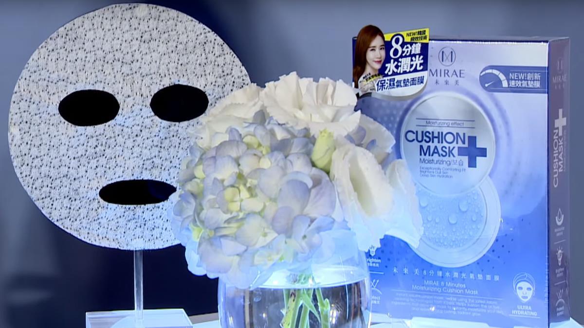 劉寅娜牛奶肌吸睛 來台代言未來美氣墊面膜