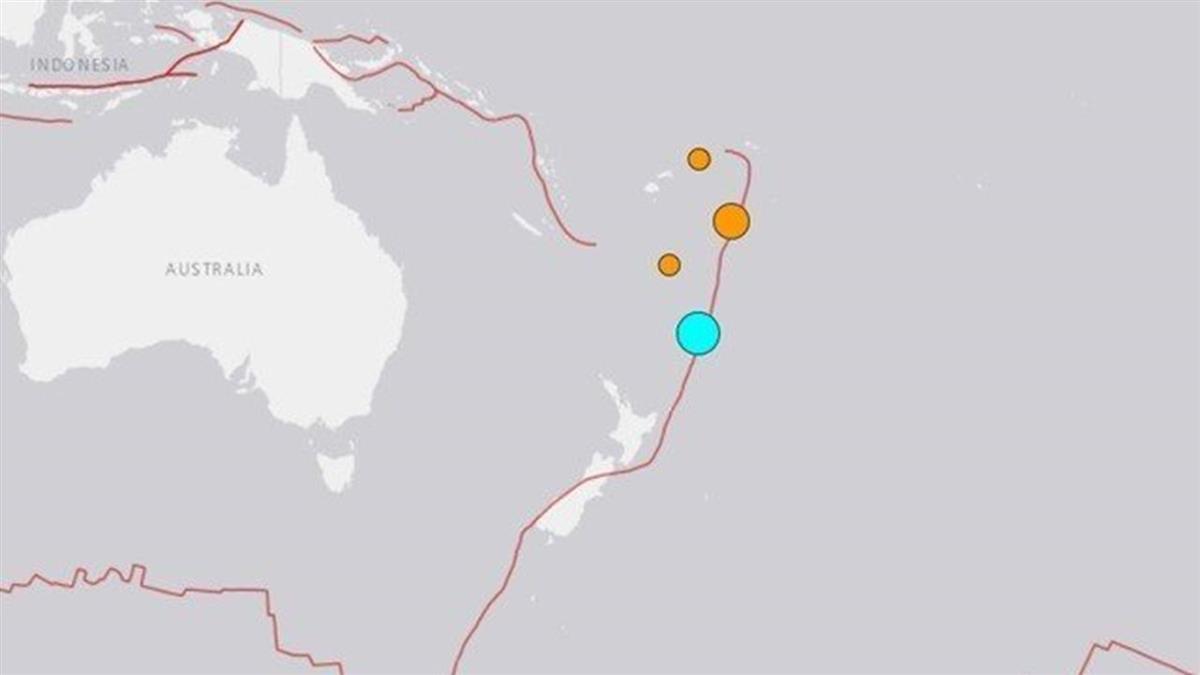 規模7.4強震襲紐西蘭東北海域!恐引發海嘯