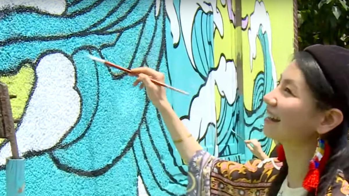 兩岸塗鴉賽登場 為老社區添新色彩