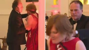 當眾掐脖、推撞女抗議者!英大臣施暴影曝光