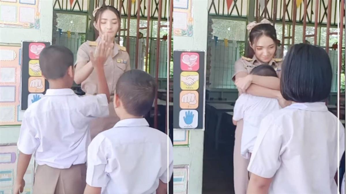 男同學愛的抱抱!老師正面回應 網揪亮點