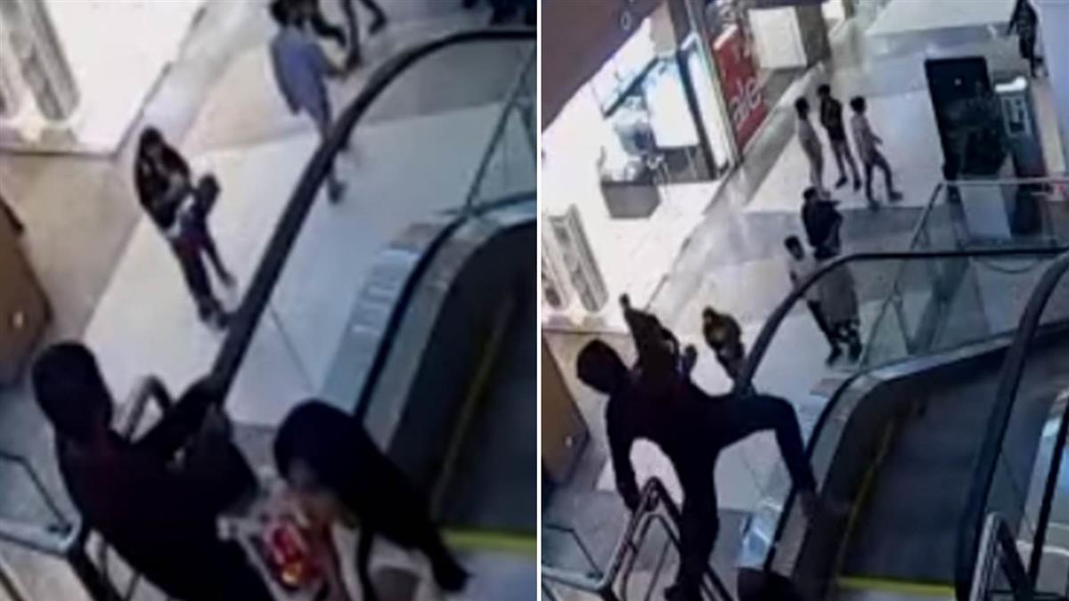 玩手扶梯褲絞入…13歲童墜15m亡 驚悚畫面曝