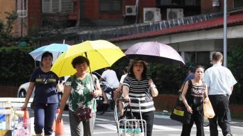 傘要帶!高溫飆34度熱爆 下午慎防雷陣雨