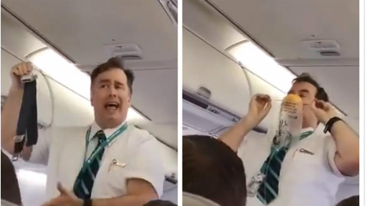 百萬人朝聖!空少魔性安全講解 乘客笑到崩潰