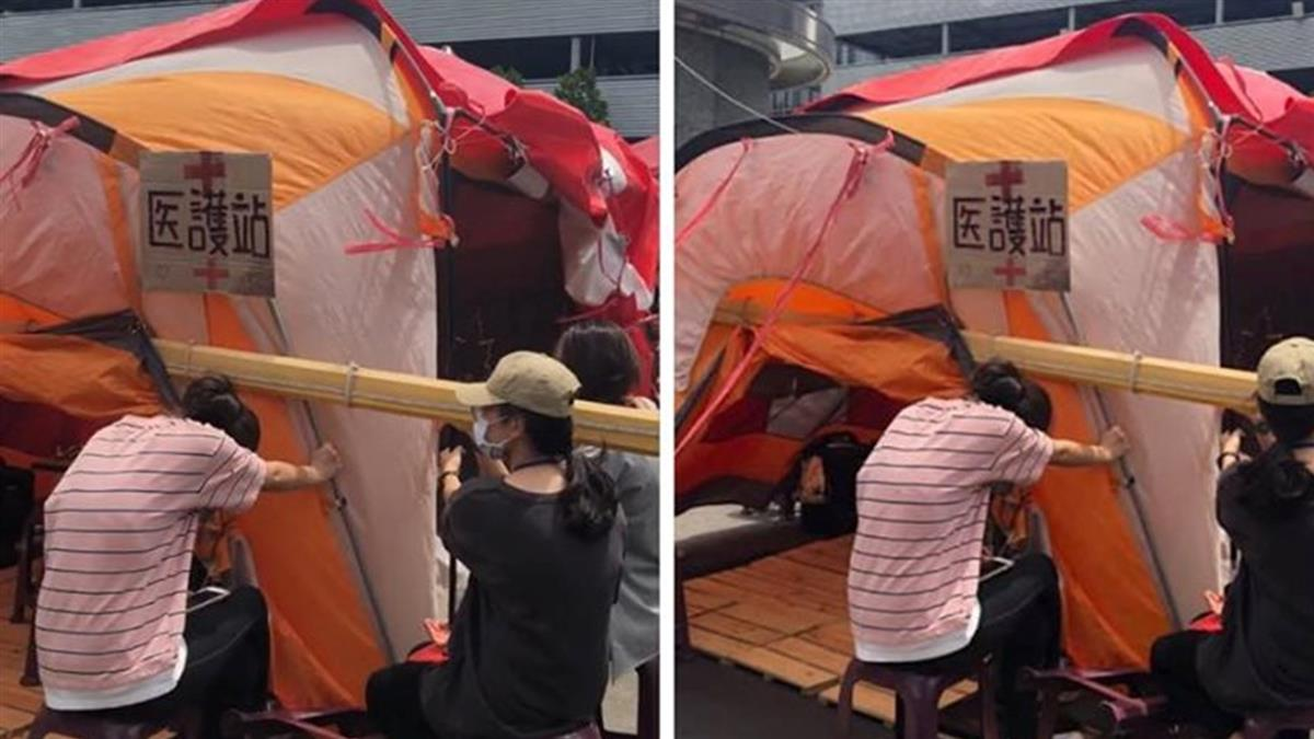 風大吹掀醫護站帳篷!工會取消領三寶 空姐超無言