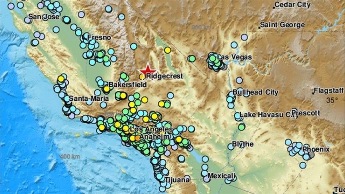 遇25年最強地震後 7.1強震再撼南加州