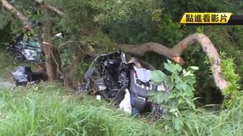 跑車撞國道護欄斷2截!華航副機師卡駕駛座亡
