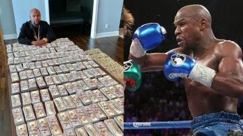 180萬鈔票擺滿桌!炫富拳王辣嗆:只是壁紙