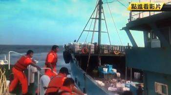 陸船越界蛇行拒捕 海巡攔截逮11船員