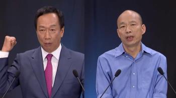 44%對27%  韓國瑜壓倒性勝郭台銘!