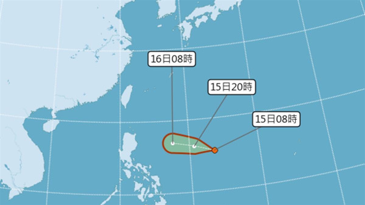 準颱風丹娜絲路徑往台灣修正!氣象局不排除陸警