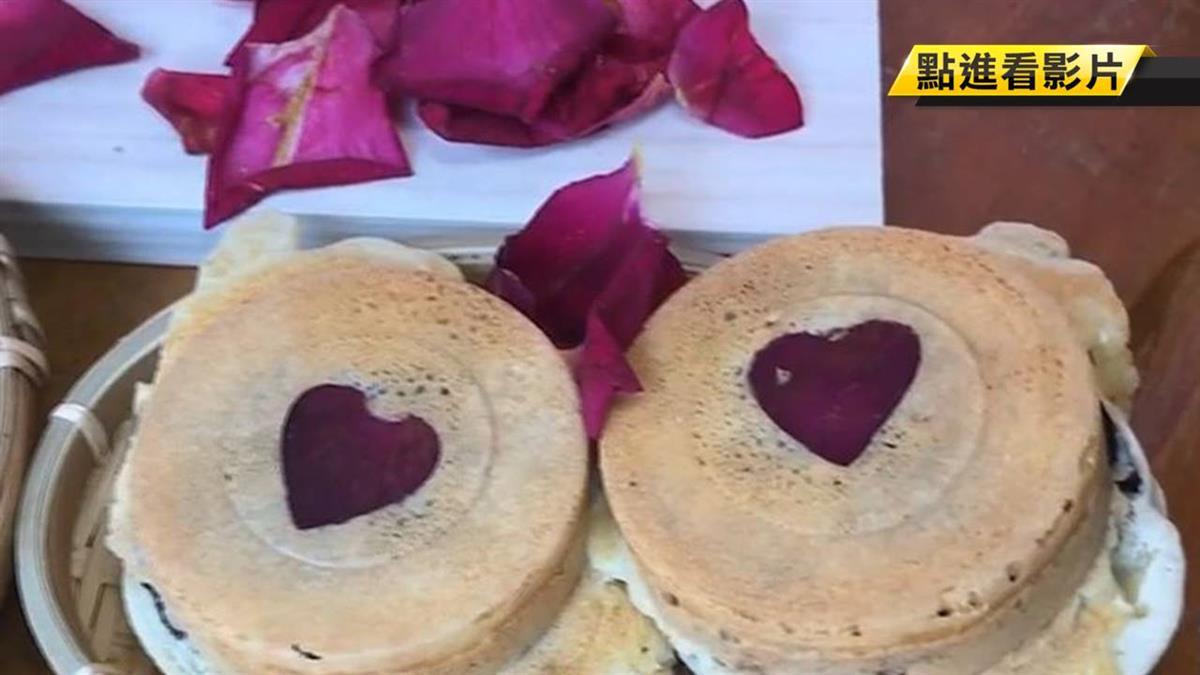 限量!紅豆餅尬玫瑰花瓣 民眾:有戀愛感覺