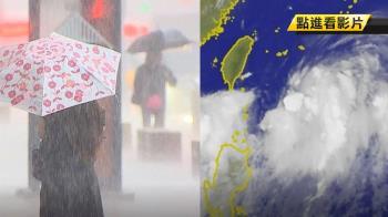 南海低壓持續長大 恐成熱低壓!水氣比丹娜絲多