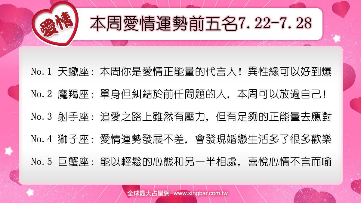 12星座本周愛情吉日吉時(7.22-7.28)