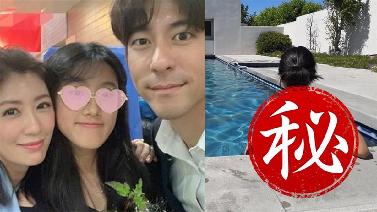 14歲梧桐妹樂放暑假 美國豪宅泳池畔美背照曝光