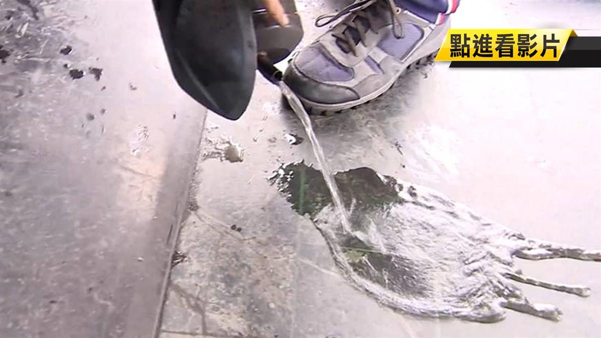 排氣管倒出水!機車發不動 維修行:發大財