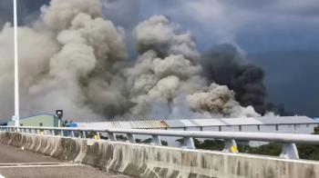 桃園200坪鐵皮工廠大火!濃煙竄天際