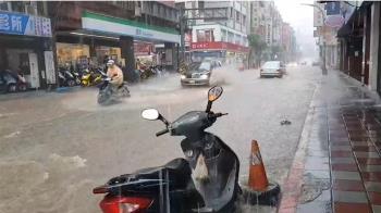 新北五股爆淹水 氣象局發12縣市大雨特報