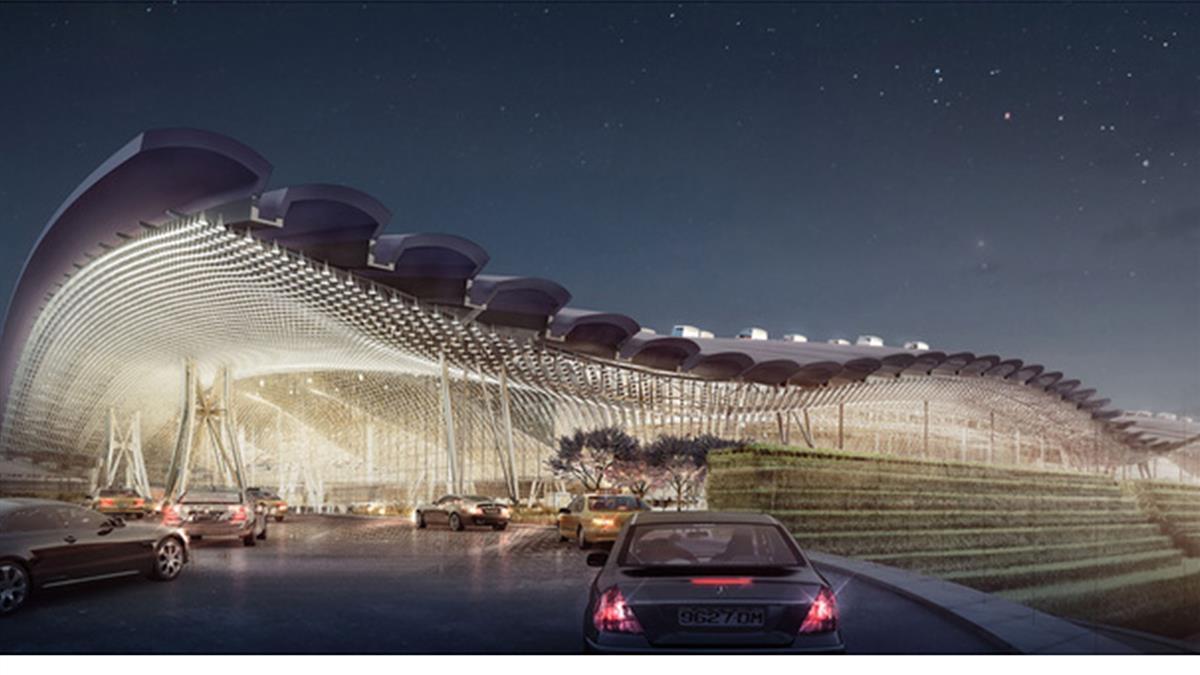 桃機第三航廈造型驚艷 成國際標竿機場恐幻滅