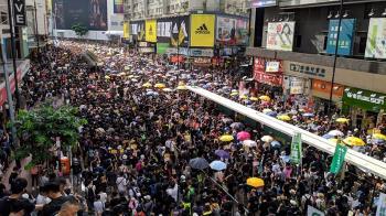 反送中遊行  中聯辦被蛋擊首度成抗議目標