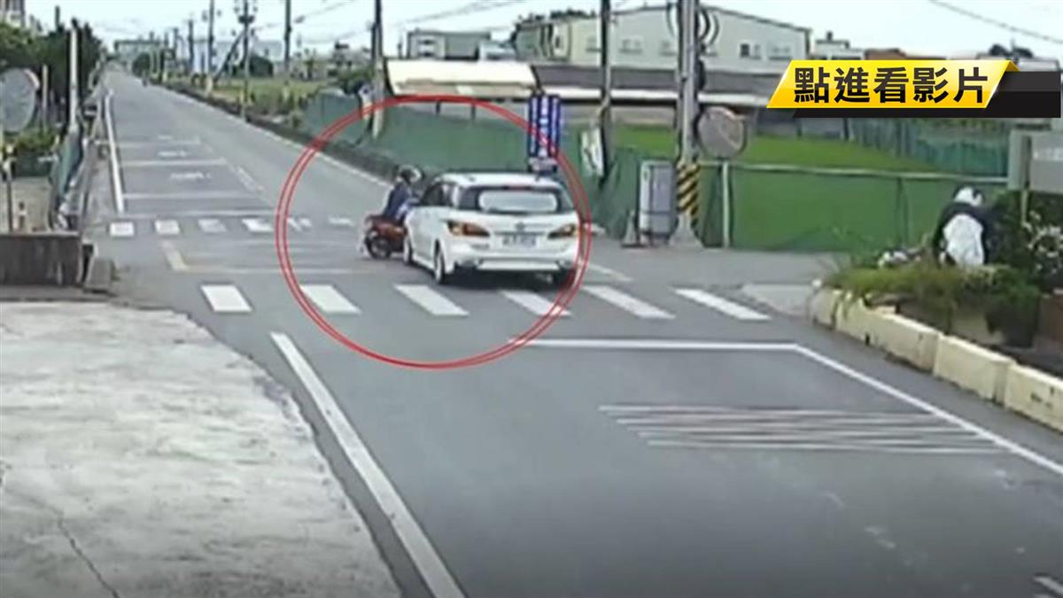 疑路口未減速!休旅車撞機車 婦遭撞飛身亡