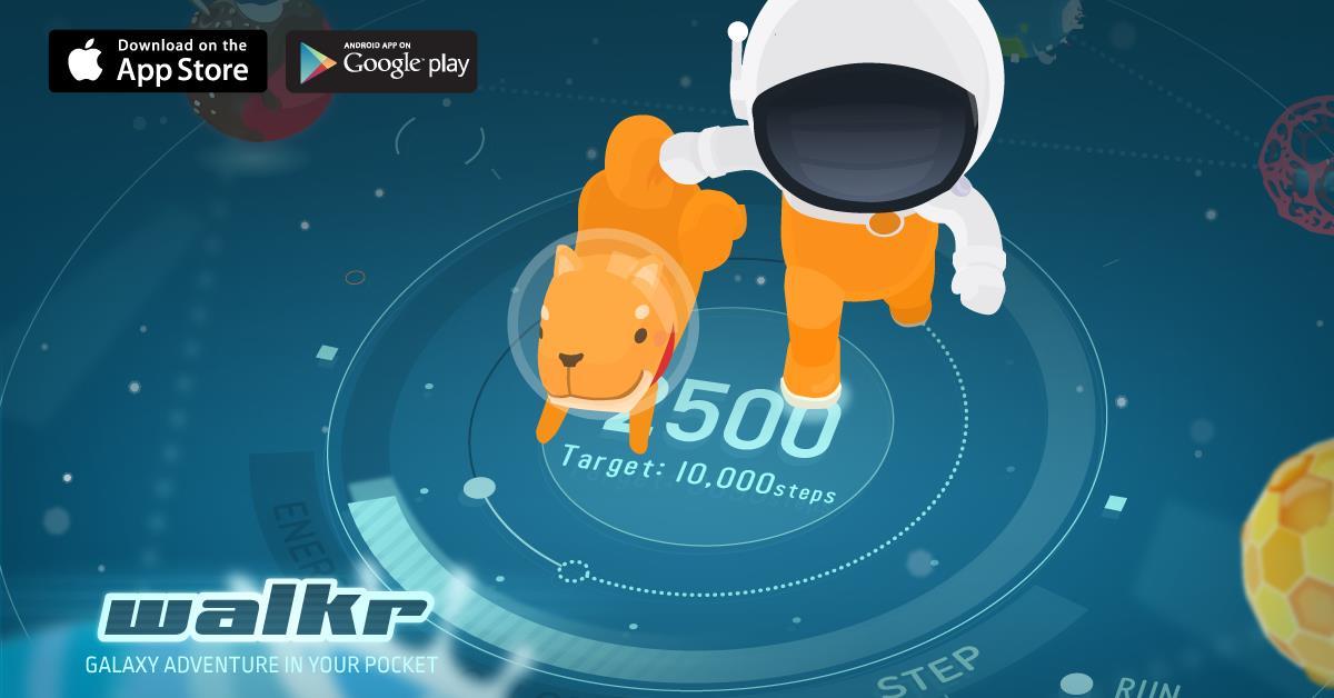 《Walkr》 計步器遊戲 APP 走路也能探索可愛星球!