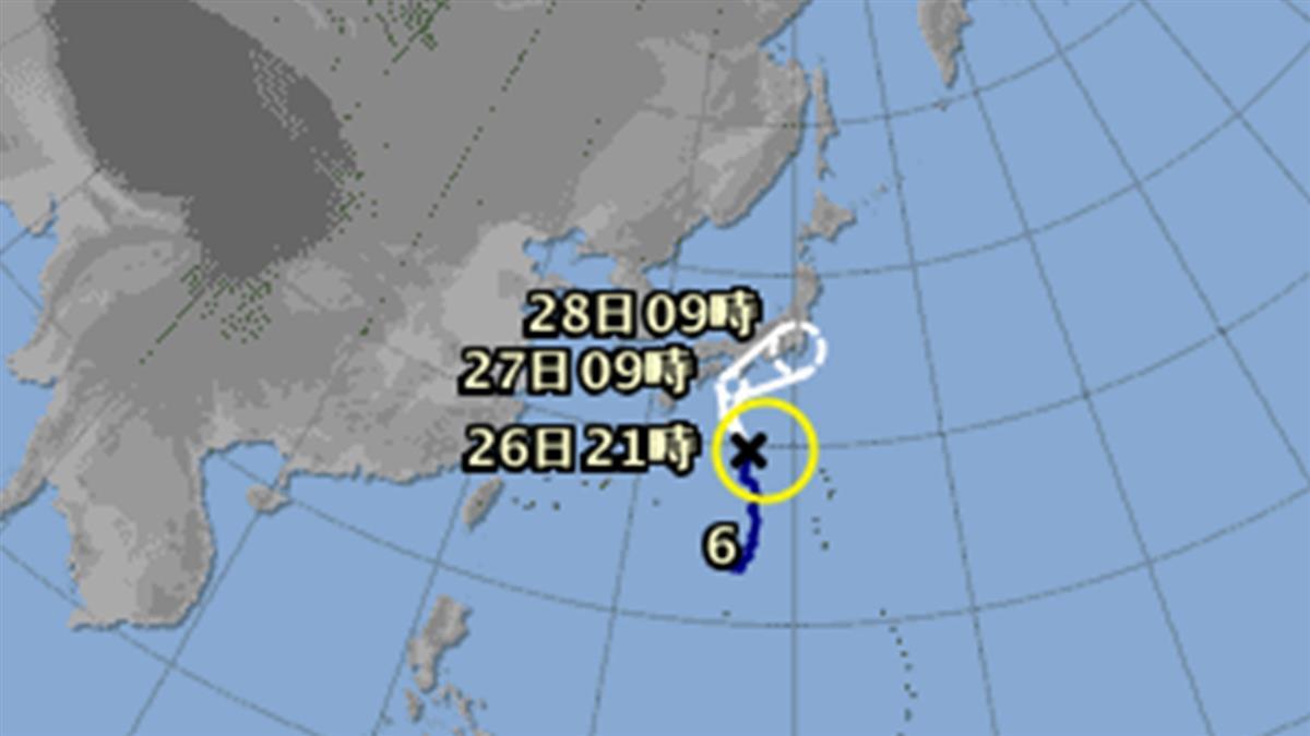第6號颱風百合生成!恐橫掃日本本州