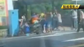 遊客雙載危險超車!居民按喇叭遭毆