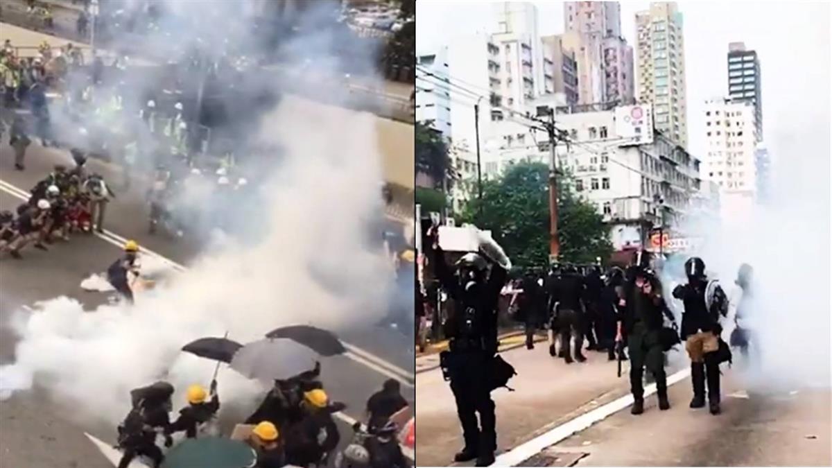元朗示威衝突釀至少23傷 警施放催淚彈驅散