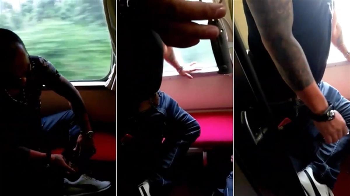 離譜!男攜刀闖台鐵車長室吸菸 旅客全嚇壞