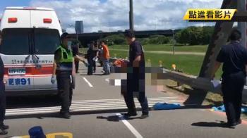 騎車自撞護欄…1歲女拋飛亡!22歲媽自責痛哭