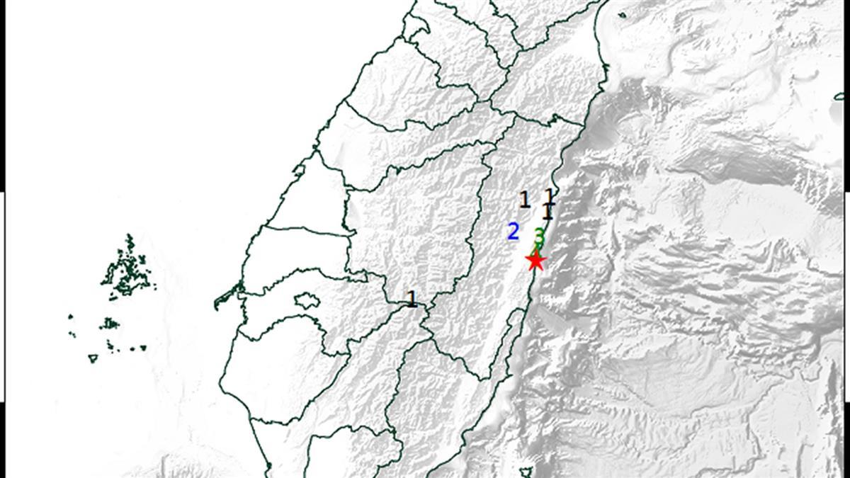 地牛翻身!花蓮發生規模3.9地震 最大震度4級