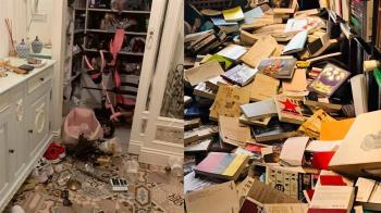 百萬書房被震垮 上千書掉滿地!猶如世紀末日