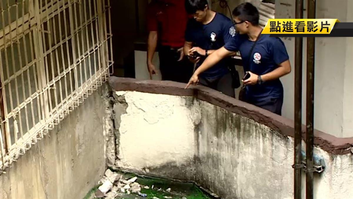 南機場舊公寓「震」驚 水泥掉落住戶樓梯間