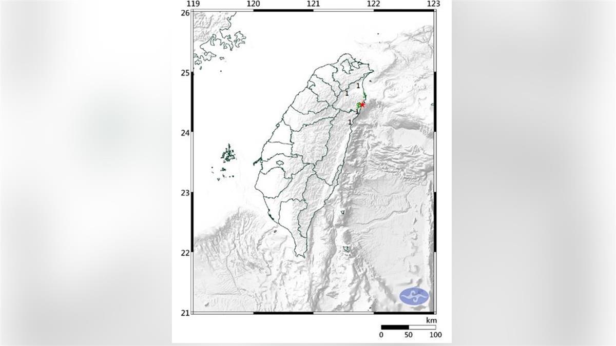 地牛翻身!宜蘭近海今晨3.2地震 最大震度3級