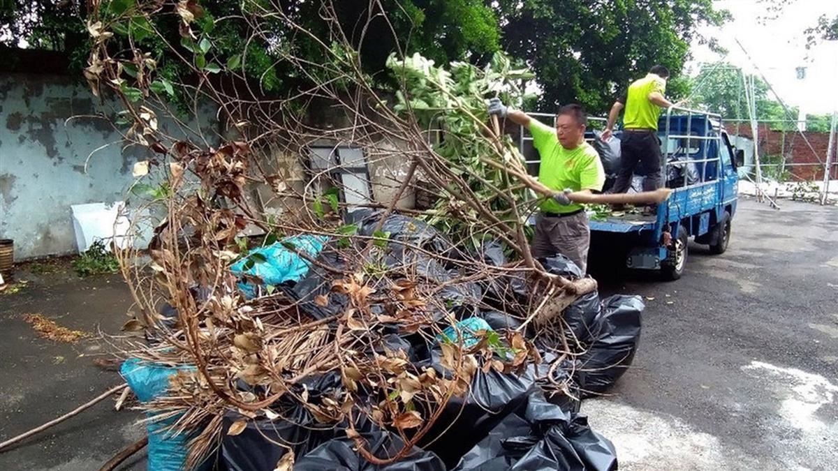 颱風利奇馬離台 桃園環保局清出72噸垃圾
