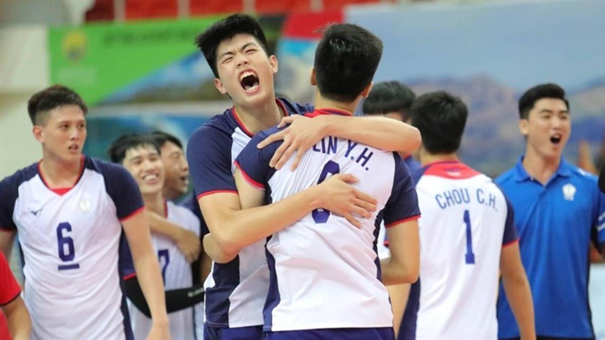 U23男排賽破日本不敗之身 中華隊逆轉拚隊史首冠
