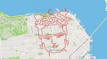 舊金山慢跑藝術家超狂! 6小時跑出女畫家像