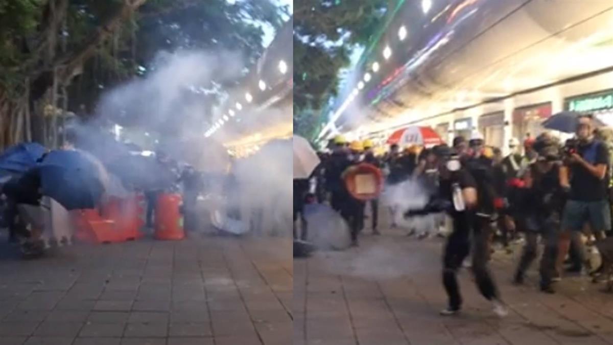反送中衝突再升溫 示威者丟汽油彈警催淚瓦斯