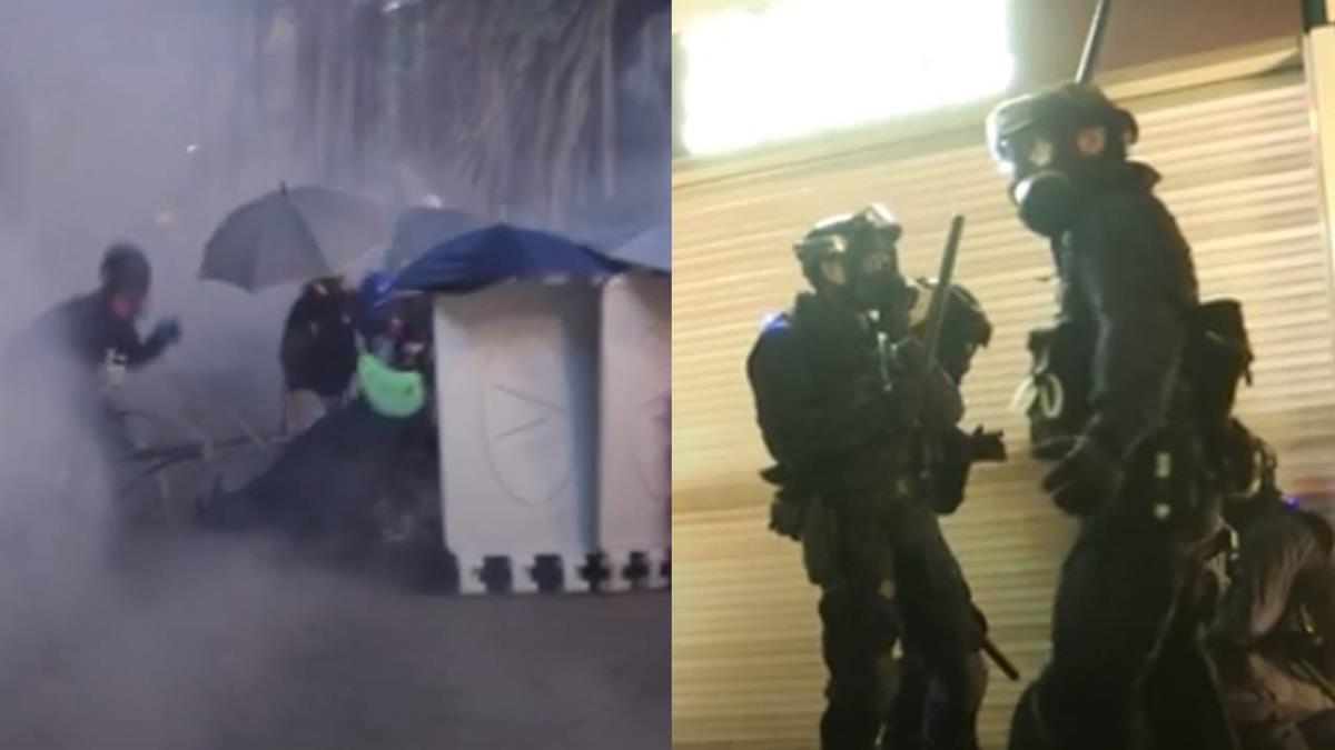 強勢驅反送中群眾!港警速龍小組鎮壓 爆流血衝突