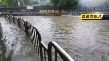 台中淹慘!涵洞積水3車拋錨 地下道水淹60公分高