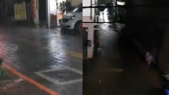 快訊/大雨狂炸台南!黃偉哲宣布:今停班停課